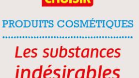 Substances indésirables dans les cosmétiques : plus de 1000 produits épinglés !