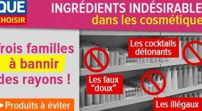 Ingrédients indésirables dans les cosmétiques : trois familles à bannir des rayons