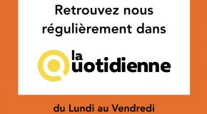 La Quotidienne (10/09/2020) – Tourisme et Covid-19