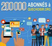 Quechoisir.org: La barre des 200 000abonnés franchie